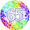 "Happy 65th Birthday 18"" Foil Helium Balloon 