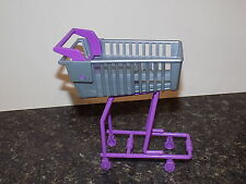 BARBIE DOLL  SHOPPING CART for  GROCERIES with sounds