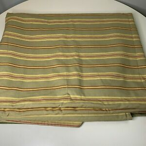coverlet bedspread tan red striped reversible green back heavy 88x104 queen