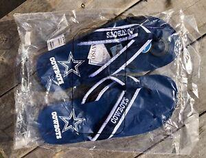 Dallas Cowboys Fan Woven Durable Logo Flip Flops NFL Licensed Beach 12 14 XL
