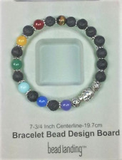 7 Colors Genuine Gemstone Chakra Balancing Healing Stretchy Bracelet for Man.