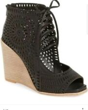 JEFFREY CAMPBELL Rayos Cut Out Bootie Wedge Sandals Size 10