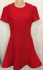 Louis Vuitton Red Skater Dress Flared Bottom Short SleeveNWT$2050 Size 34