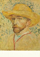 Self Portrait With Straw Hat Paint Vincent Van Gogh 1973 Vintage Art Postcard