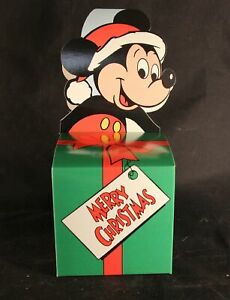 """One (1) """"Mickey Mouse"""" 4 X 4 X 4 Christmas Gift Box"""