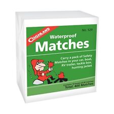Coghlan's 529 Waterproof Matches - 10 Box Pack - 400 Total
