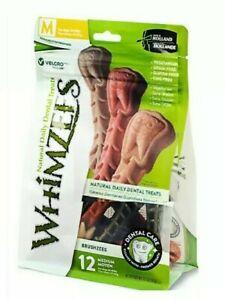 MED Whimzees - (1) 12 ct Bag Natural Grain Free Dental Dog Treats, MEDIUM