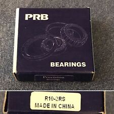 "Qty (1) PRB R10-2RS Radial Ball Bearing, Dual Rubber Sealed, 5/8"" Bore, NIB"
