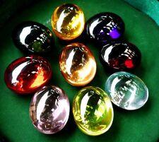 3 x Powerful Nok-Phra-Gow-9Colors Lucky Gems Naga Eye Crystal Real Thai Amulet