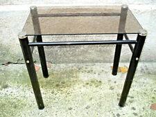 table basse en verre design vintage H. 35,5 cm
