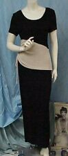 JOSEPH RIBKOFF designer 2 pc. black/ivory knit top and skirt outfit/suit, sz. 12