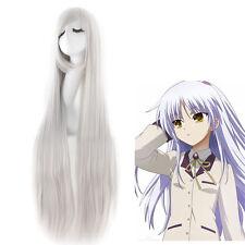 《Angel Beats!》Tachibana Kanade 100 cm Long Silver Straight Cosplay Anime Wig