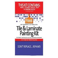 FLOOD TILE & LAMINATE PAINT KIT LIGHT BASE KITCHEN BATHROOM LAUNDRY RENOVATE WOW
