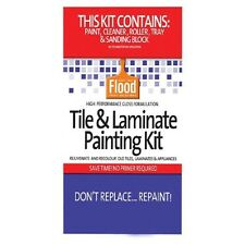 FLOOD TILE & LAMINATE PAINT KIT DEEP BASE KITCHEN BATHROOM LAUNDRY RENOVATE WOW