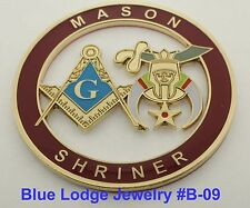 Masonic Master Mason, Shriner Cut Out Car Emblem #B-09