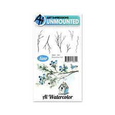 Art Impressions Watercolor Cling Rubber STAMPS 4 Inch X7 Inch Branches
