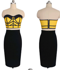 Yellow Top and Black Skirt Set  Party Wear UK 8-10