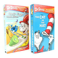 Dr. Seuss VHS Tapes Lot of 2 Green Eggs and Ham & The Cat in the Hat Kids Shows