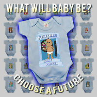 BritTot Babies FUTURE Collection - Boys Funny Baby Grow Vest Sleepsuit