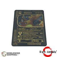 Carte Pokemon Dracaufeu Charizard / Metal Black Card GX EX Gold Fan Made Custom