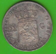 Niederlande 2 1/2 Gulden 1866 fast vz kleine Randfehler nswleipzig
