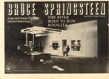 20/6/81PN22 SINGLE ADVERT 7X11 BRUCE SPRINGSTEEN : THE RIVER, BORN TO RUN, ROSAL