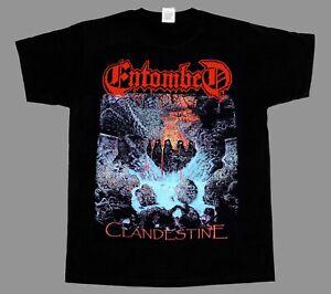 ENTOMBED CLANDESTINE'91 DEATH BOLT THROWER SHORT - LONG SLEEVE NEW BLACK T-SHIRT