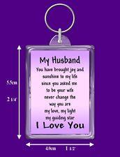 My Husband Verse Keyring - Birthday - I Love You - Special Keepsake Gift