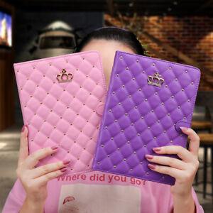 """For iPad 10.2"""" 8th 7th 6th 5th 9.7"""" Mini 5 4 Air 2 3 Girl's Crown Diamond Case"""