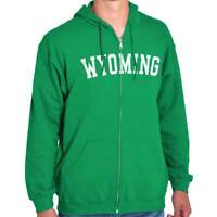 Wyoming State Shirt Athletic Wear USA T Novelty Gift Ideas Zipper Hoodie