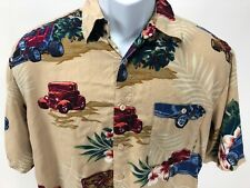 5dbca174 Puritan Hawaiian Floral Hot Rod Short Sleeve Button Up Shirt Size Med.  100%Rayon