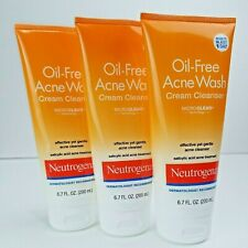 (3) Neutrogena Oil-Free Acne Wash Cream Cleanser 6.7oz EXP: 03/22
