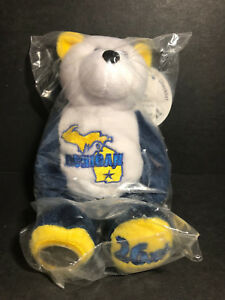 NEW Limited Treasures MICHIGAN State Quarter Coin Bear w/Tags RETIRED 2004 L@@K