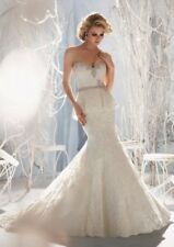 Mori Lee Wedding Gown- Style #1951- NWT- Size 6 -Ivory