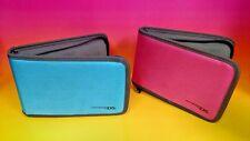 Nintendo 3DS XL / 3DS DSi XL (2) Case travel System + Game organizer Blue + Pink