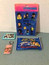 RARE Star Trek TOS Collectors Lot Mirror Stickers Key Chain, TNG Photon Candies