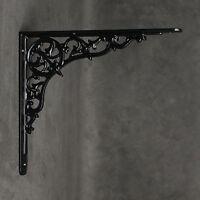 "10x9"" ANTIQUE CAST IRON VICTORIAN SHELF CISTERN BRACKET BLACK WHITE PEWTER BR29"