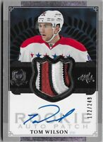 Z) 2013-14 The Cup Tom Wilson RPA Auto Patch RC 172/249 Washington Capitals