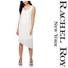 RACHEL ROY COOL  SCOOP NECK  SHEER  ASYMMETRICAL  SHIFT  DRESS Sz M  NWT  $ 109