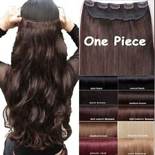 USA Mega Thick Clip In Hair Extensions One Piece Straight Curly Wavy As Human