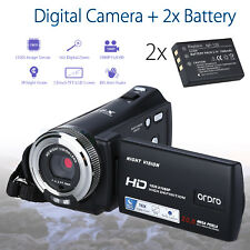 "Ordro HDV-V12 3.0"" 1080P Digital Video Camera Camcorder IR Night Vision +Battery"