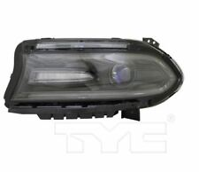 TYC Left Side Halogen Headlight For Dodge Charger w/ LED DRL 2016-2018 Models