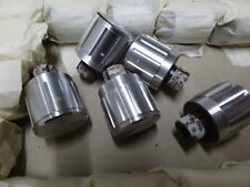 5 vintage aluminium finish knob for 1/4 inch with flat recessed shaft 22mm dia