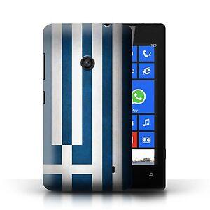 STUFF4 Case/Cover for Nokia Lumia 520/Flags/Greece/Greek