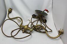 Antique Brass Rise & Fall Ceiling Vintage Chandelier Light Fitting Art Nouveau?