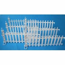 Metallzaun weiß 6 tlg. für Puppenhaus Garten Dekoration Miniatur 1:12