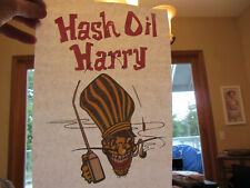 HASH OIL HARRY full size iron on t shirt transfer vintage 70s item NOS