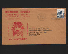 OPC 1963 Mexico Saltillo to USA Interamerican University 21st Anniversary Cachet