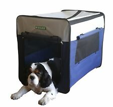 """HERITAGE 3055 LARGE DOG CAGE CRATE 30"""" PUPPY KENNEL TRAINING TRAVEL CARRIER BED"""