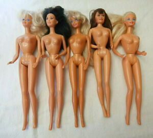 LOT OF 5 VINTAGE NUDE MATTEL BARBIES BODY'S MARKED 1960'S